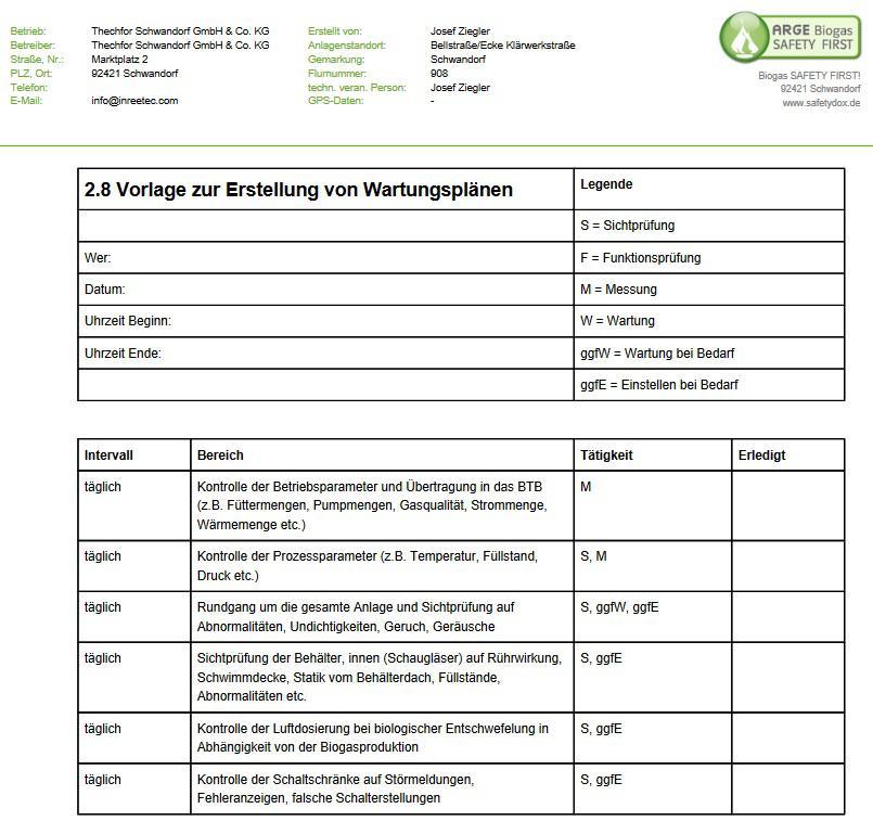Nett Inspektionsformular Vorlage Bilder - Dokumentationsvorlage ...